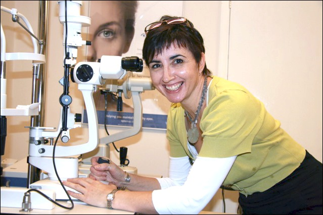 Debbie Grange, independent optometrist with experience in hospital paediatrics. Qualified for 11 years